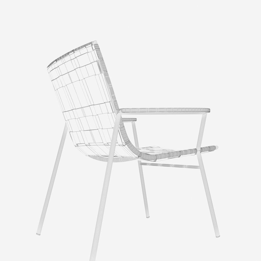 Chair Amado Tidelli royalty-free 3d model - Preview no. 14