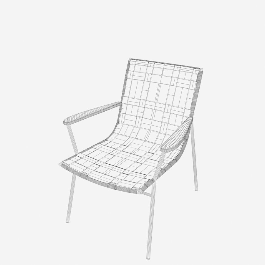 Chair Amado Tidelli royalty-free 3d model - Preview no. 8