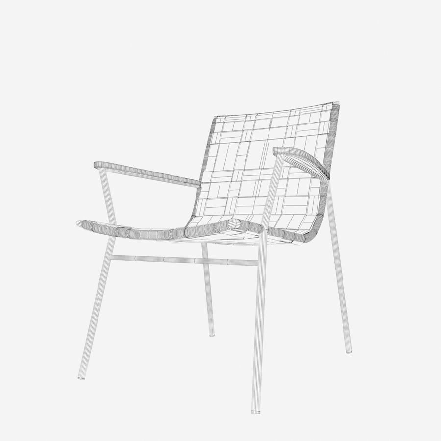 Chair Amado Tidelli royalty-free 3d model - Preview no. 5