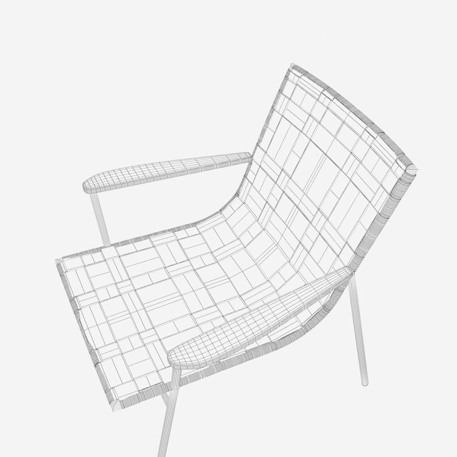 Chair Amado Tidelli royalty-free 3d model - Preview no. 11