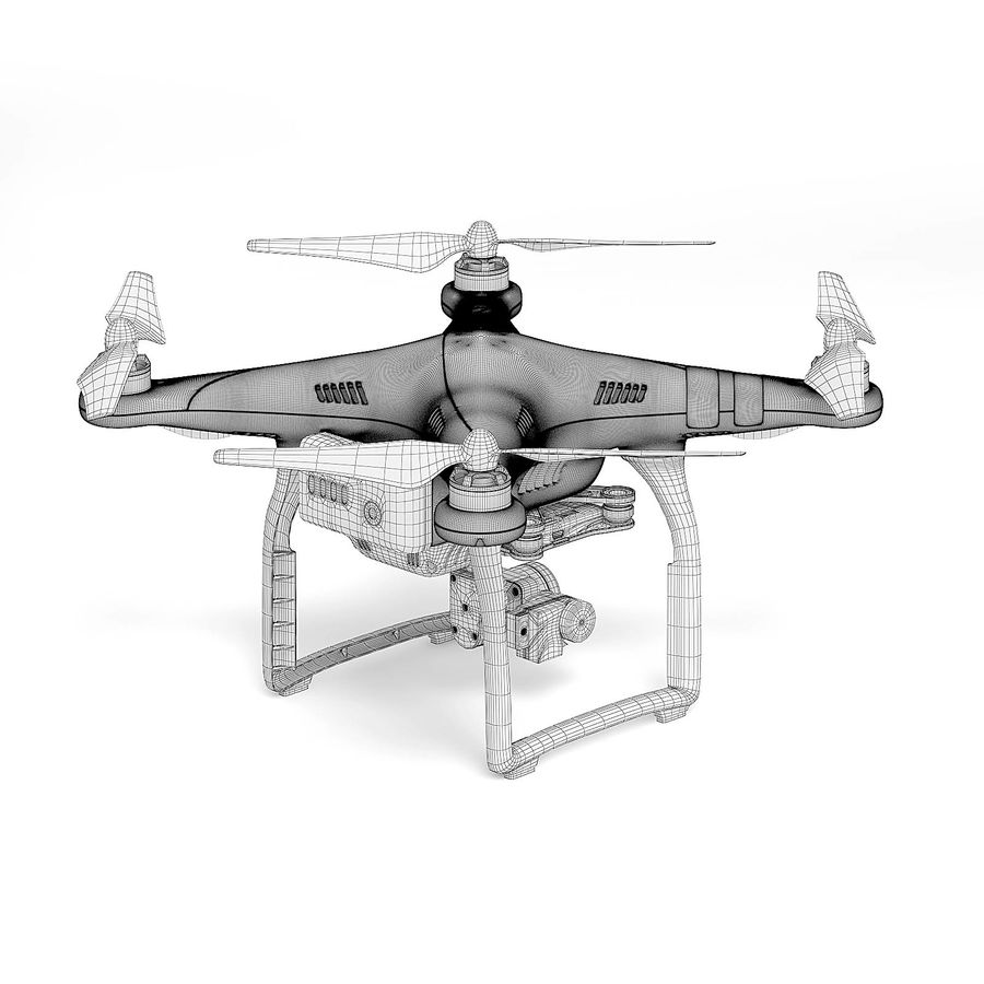 Drone 3D Model royalty-free 3d model - Preview no. 6