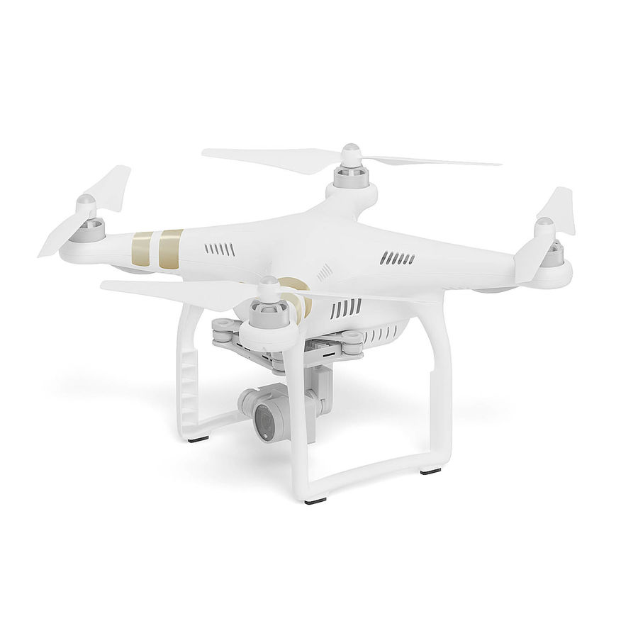 Drone 3D Model royalty-free 3d model - Preview no. 3