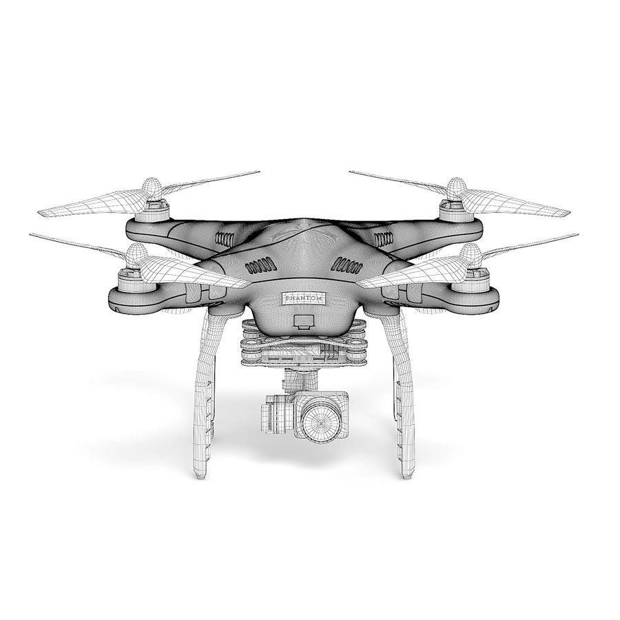 Drone 3D Model royalty-free 3d model - Preview no. 2