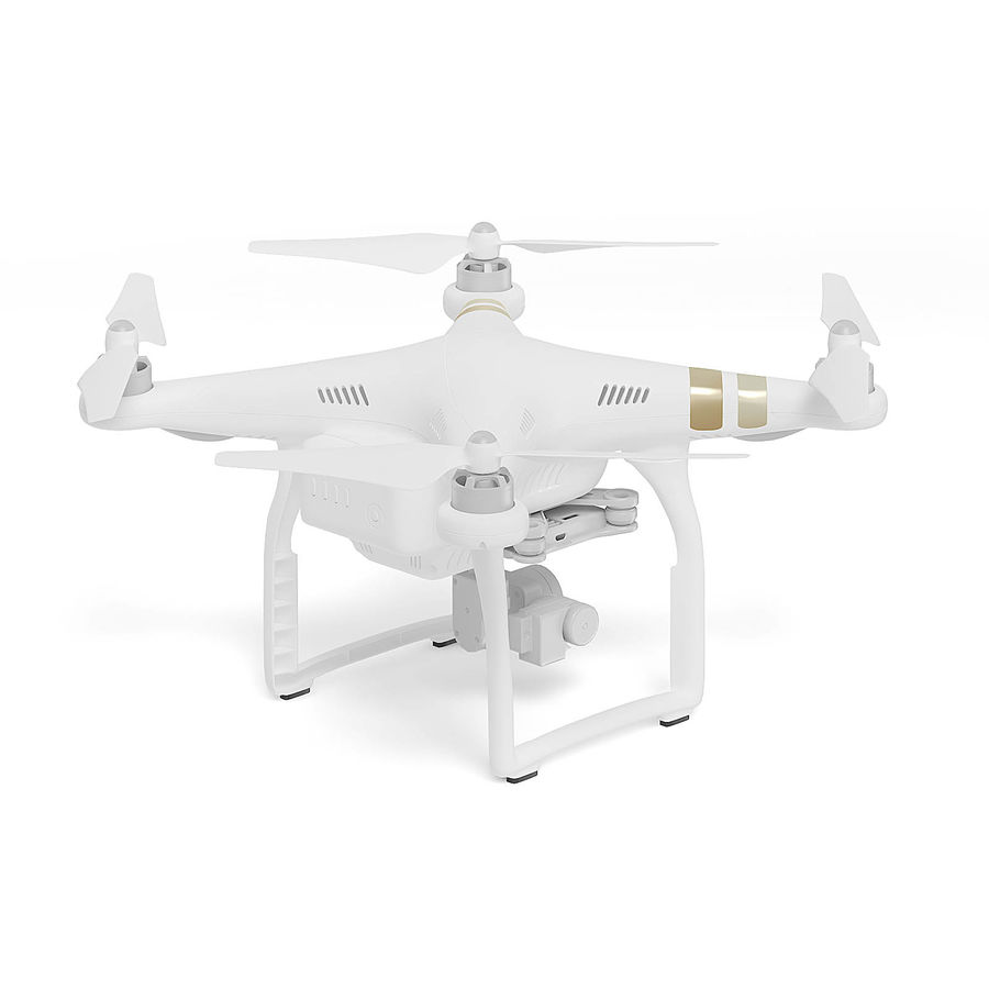 Drone 3D Model royalty-free 3d model - Preview no. 5