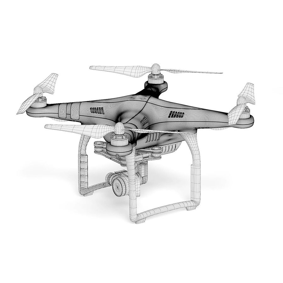 Drone 3D Model royalty-free 3d model - Preview no. 4