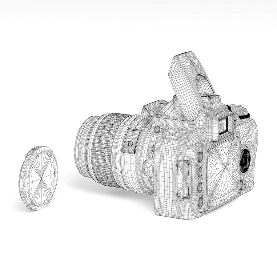 Photo Camera 3D Model royalty-free 3d model - Preview no. 4
