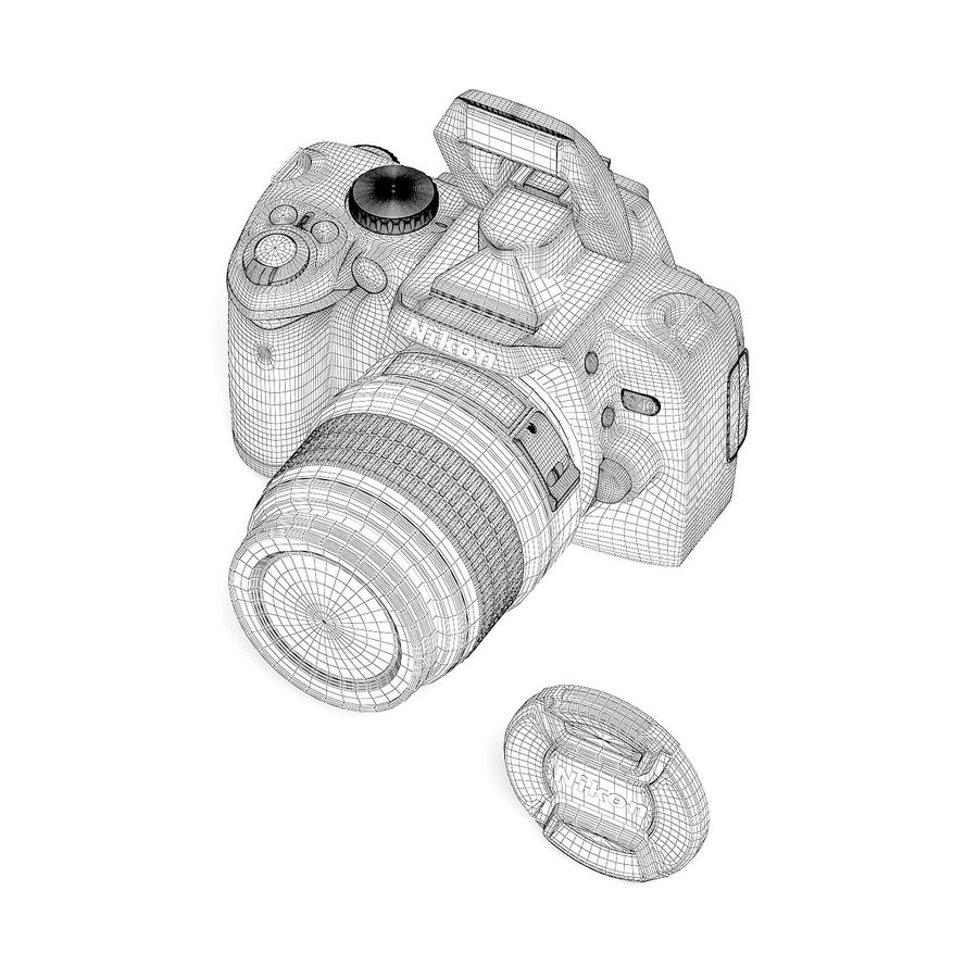 Photo Camera 3D Model royalty-free 3d model - Preview no. 6