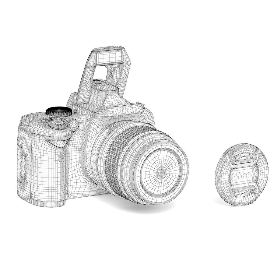 Photo Camera 3D Model royalty-free 3d model - Preview no. 2