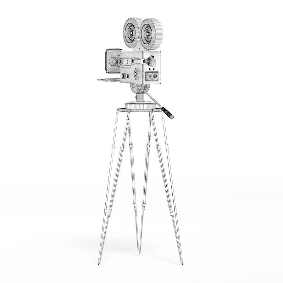 Vintage Movie Camera 3D Model royalty-free 3d model - Preview no. 4