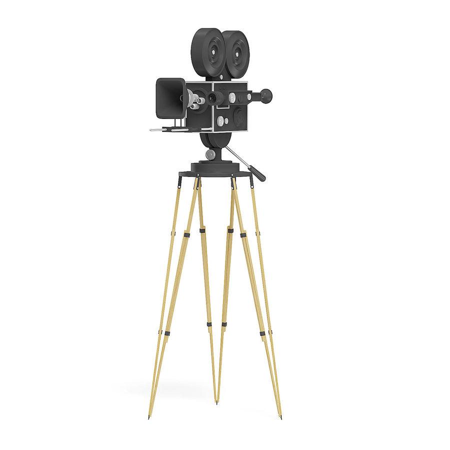 Vintage Movie Camera 3D Model royalty-free 3d model - Preview no. 1