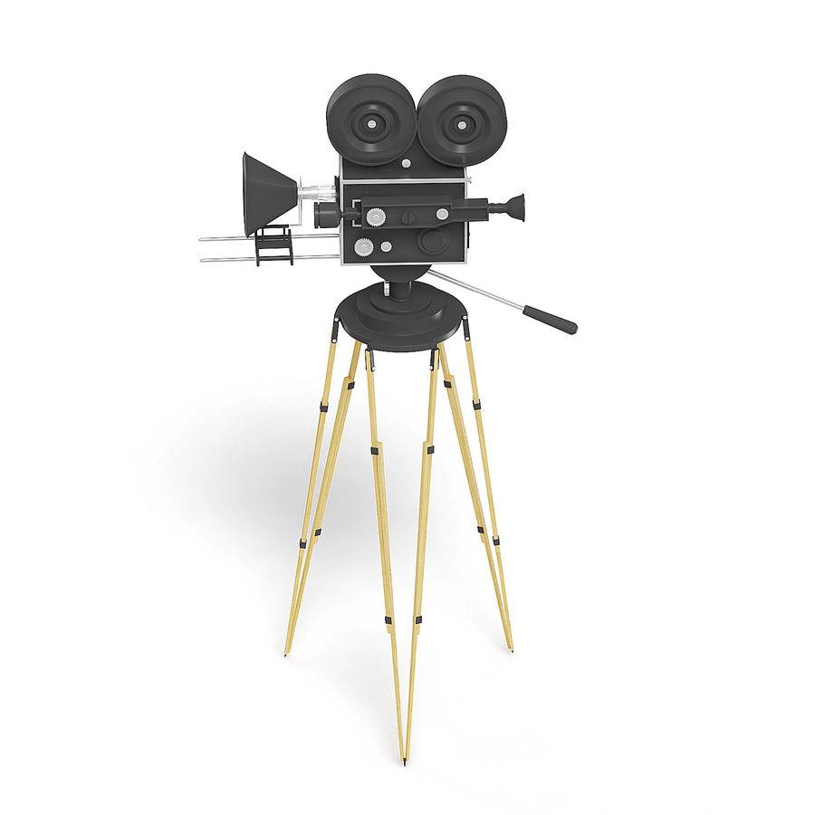 Vintage Movie Camera 3D Model royalty-free 3d model - Preview no. 5