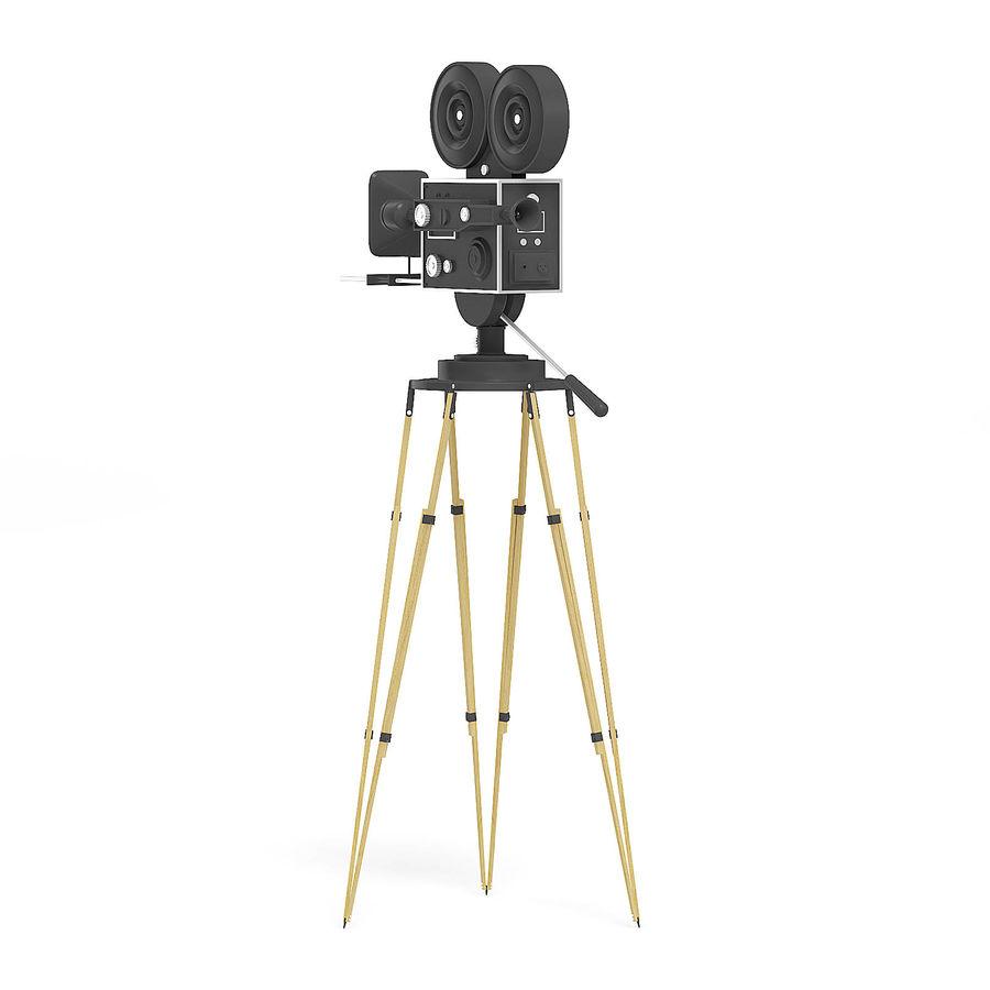Vintage Movie Camera 3D Model royalty-free 3d model - Preview no. 3