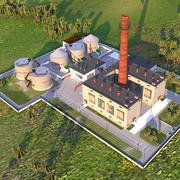 Heating plant 3d model
