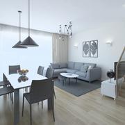Living Room and Closet 3d model