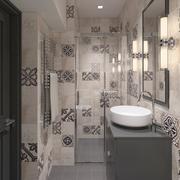Cozy shower with decorative tiles 3d model