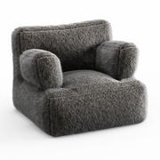 Iced Faux Fur Eco Lounger 3d model