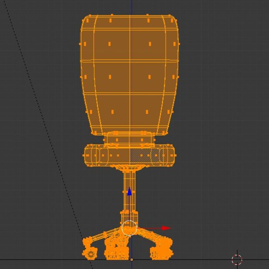 Computer chair royalty-free 3d model - Preview no. 18