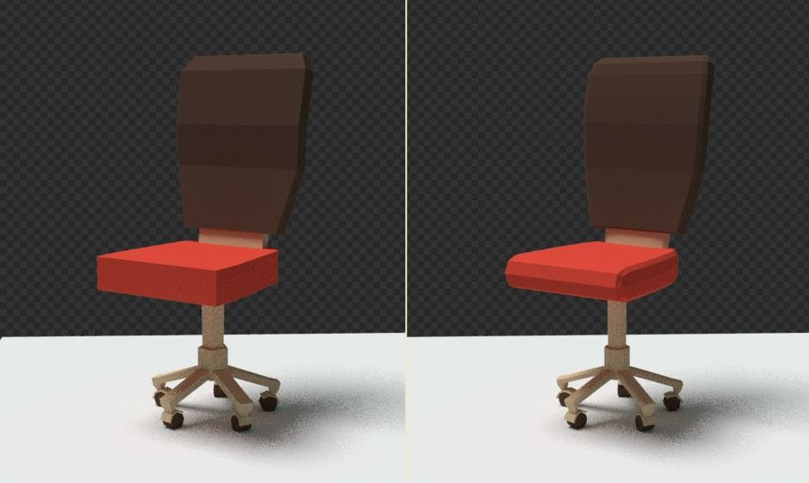 Computer chair royalty-free 3d model - Preview no. 21