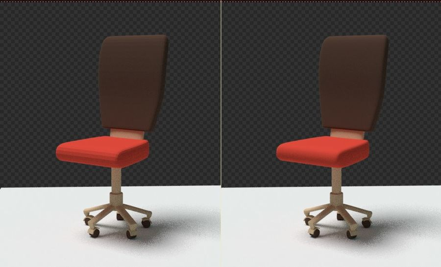 Computer chair royalty-free 3d model - Preview no. 22