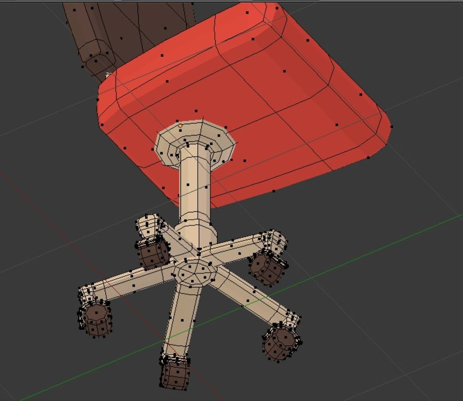 Computer chair royalty-free 3d model - Preview no. 9