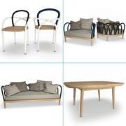 Conjunto de muebles de arco modelo 3D modelo 3d
