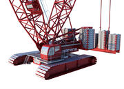 Crawler Mining Kran 3d model