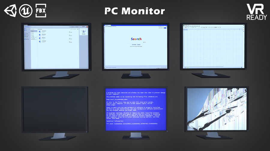 PC-Monitor royalty-free 3d model - Preview no. 2