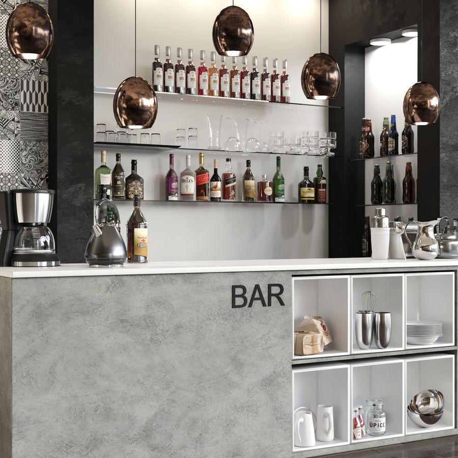 Bar Alkohol 13 royalty-free 3d model - Preview no. 2