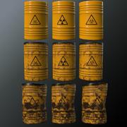 Barili di rifiuti tossici 3d model