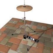 Cymbal med hög häck 3d model