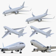Boeing 767 Rigged Collection 3d model