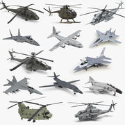 US Military Aircrafts Collection 2 3d model