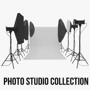 Studio Backdrop And Lights Kit Collection 3d model