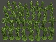 American soldiers ww2 Bundle Pack 3d model