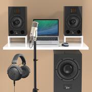 Production musicale et collection d'enregistrement 2 3d model