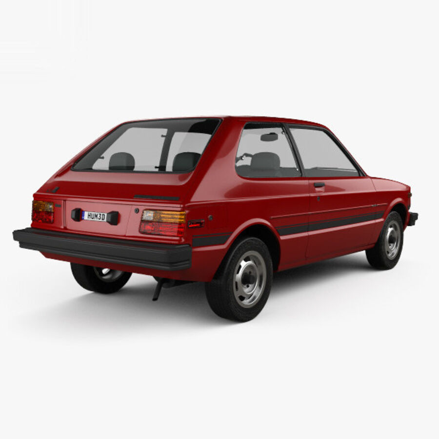 丰田Starlet 1982 royalty-free 3d model - Preview no. 2