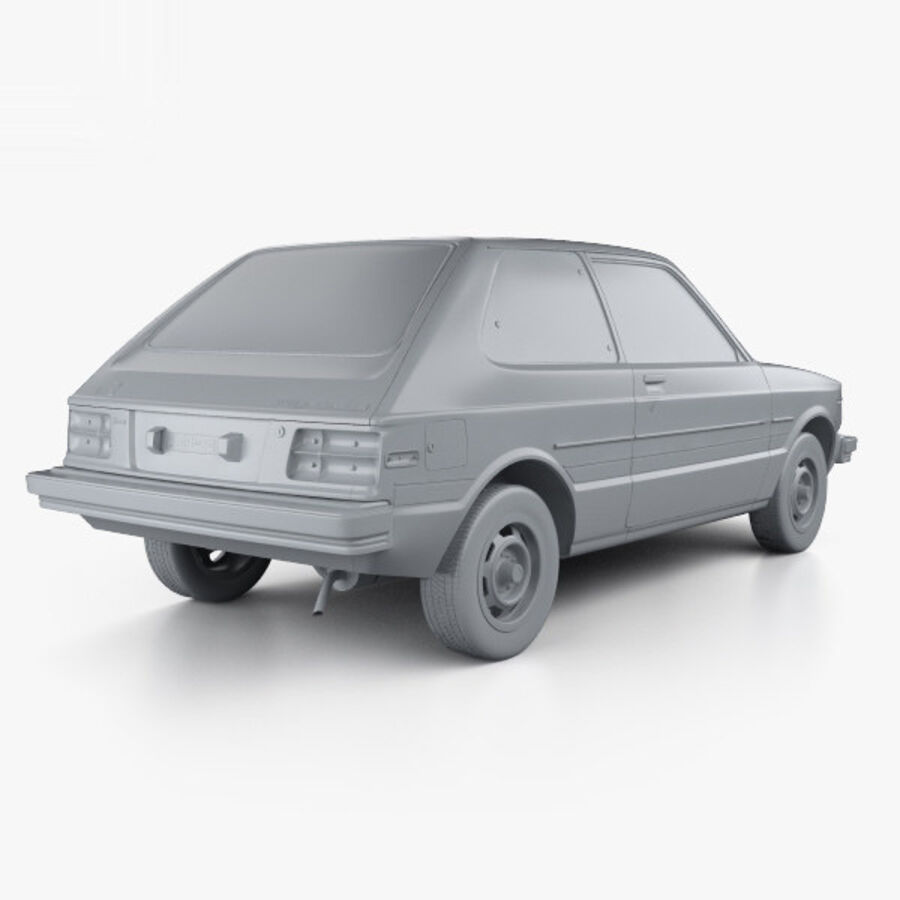 丰田Starlet 1982 royalty-free 3d model - Preview no. 12
