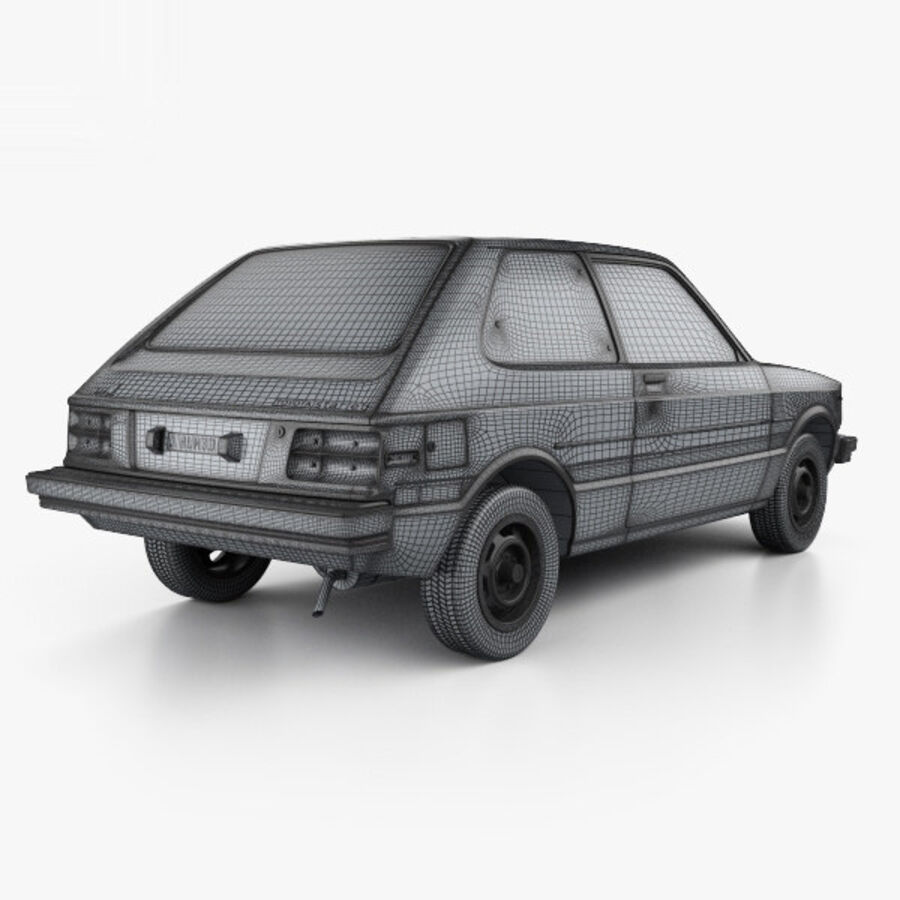 丰田Starlet 1982 royalty-free 3d model - Preview no. 4