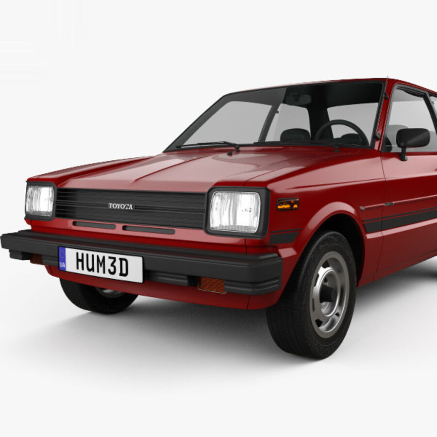 丰田Starlet 1982 royalty-free 3d model - Preview no. 6