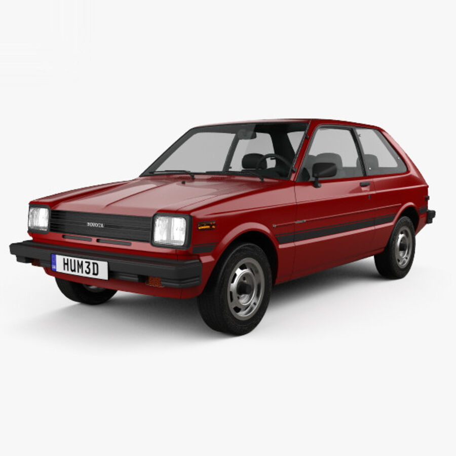 丰田Starlet 1982 royalty-free 3d model - Preview no. 1