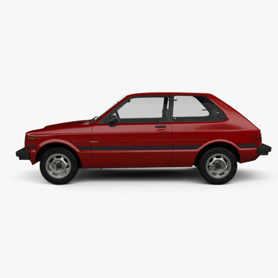 丰田Starlet 1982 royalty-free 3d model - Preview no. 5