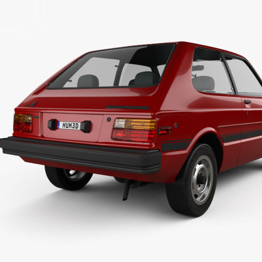 丰田Starlet 1982 royalty-free 3d model - Preview no. 7