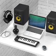 Production musicale et collection d'enregistrement 1 3d model