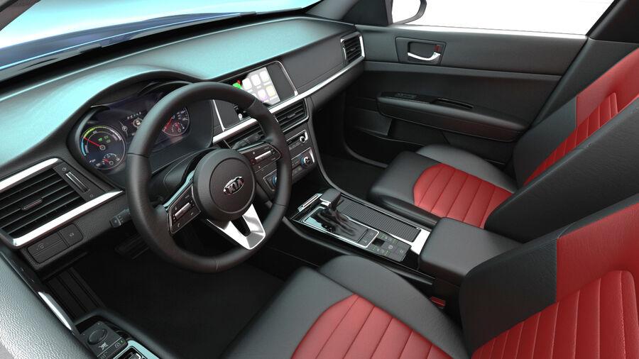 Kia Optima 2019 royalty-free 3d model - Preview no. 14