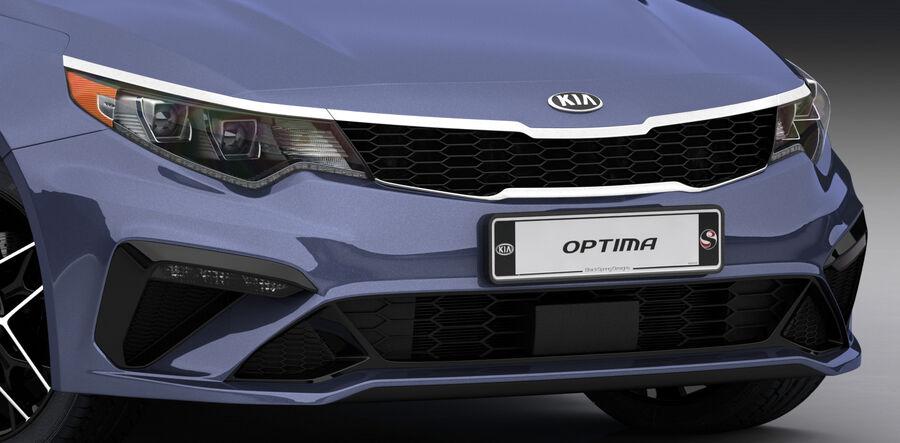 Kia Optima 2019 royalty-free 3d model - Preview no. 19