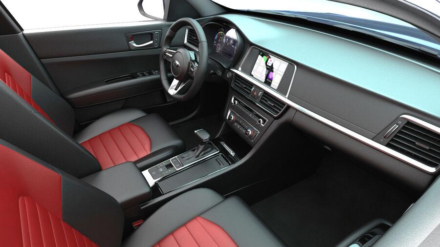 Kia Optima 2019 royalty-free 3d model - Preview no. 15