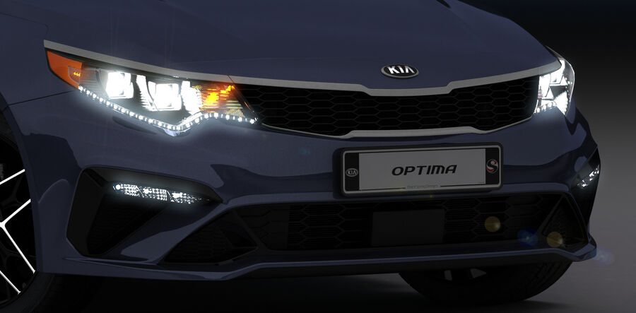 Kia Optima 2019 royalty-free 3d model - Preview no. 21