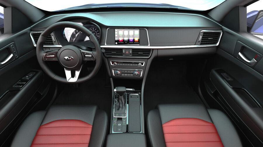 Kia Optima 2019 royalty-free 3d model - Preview no. 16