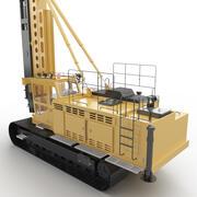 Pile driving rigs 3d model