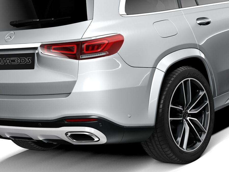 Mercedes-Benz GLS 2021 royalty-free 3d model - Preview no. 4